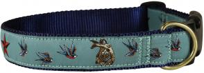 Sea Ink - 1.25-inch Ribbon Dog Collar