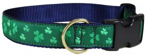 Shamrock - 1.25-inch Ribbon Dog Collar