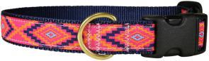 Southwest (Hot Pink) - 1-inch Ribbon Dog Collar