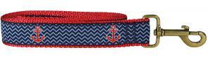 Anchor (Navy Ahoy) - 1.25-inch Ribbon Dog Leash