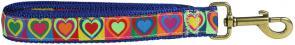 Hearts - 1-inch Ribbon Dog Leash