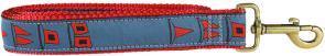 Hurricane Flags - 1.25-inch Ribbon Dog Leash