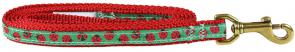 Ladybug - 5/8-inch Ribbon Dog Leash