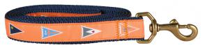 Melon Burgees - 1-inch Ribbon Dog Leash