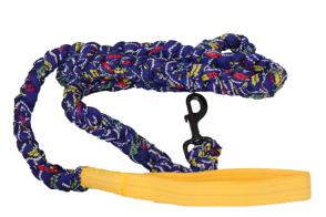 Braided Cloth Dog Leash - Blue