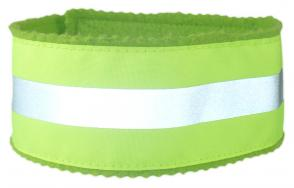 Safety Reflective Dog Collar - Lime Green