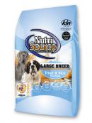 NutriSource Dry Dog Food - Trout and Rice Large Breed Adult - 30lb