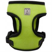 Over-the-Head Dog Harness - Lime Green