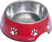 Red Paw Dog Bowls - Non-Skid, Stainless Steel