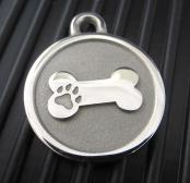Hand-Forged Pet ID Tag - Large Bone
