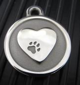 Hand-Forged Pet ID Tag - Large Heart