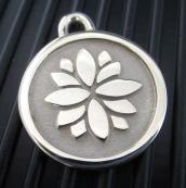 Hand-Forged Pet ID Tag - Medium Lotus