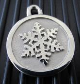 Hand-Forged Pet ID Tag - Medium Snowflake