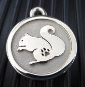 Hand-Forged Pet ID Tag - Medium Squirrel