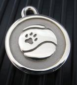 Hand-Forged Pet ID Tag - Medium Tennis Ball