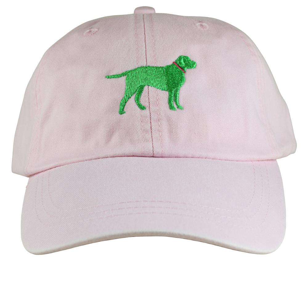 bc-baseball-hat-green-labrador-on-pink