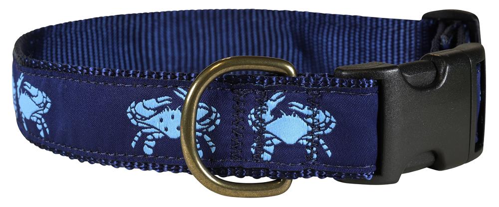 bc-ribbon-dog-collar-blue-crab-1-25-inch