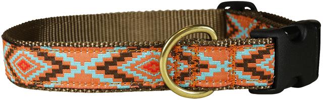 bc-ribbon-dog-collar-burnt-orange-southwest-1-inch