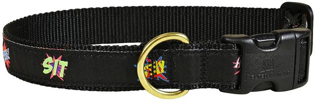 bc-ribbon-dog-collar-comic-book-commands-1-inch-1