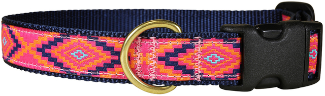 bc-ribbon-dog-collar-southwest-hot-pink-1-inch