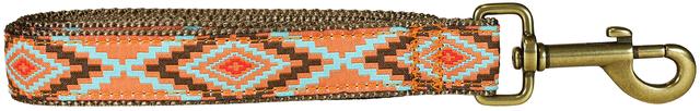 bc-ribbon-dog-leash-burnt-orange-southwest-1-inch
