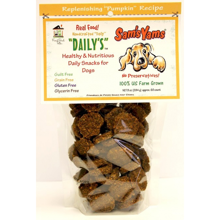All Natural Pumpkin Dog Treats Recipe