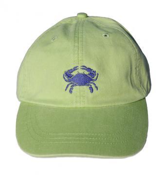 bc-baseball-hat-dark-blue-crab-on-lime