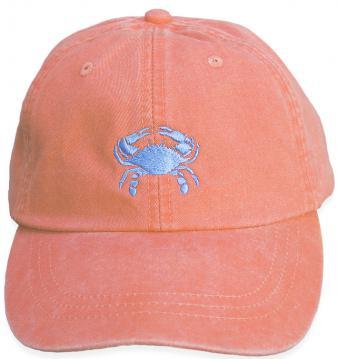 bc-baseball-hat-light-blue-crab-on-coral