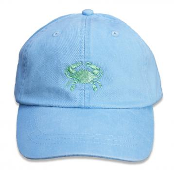 bc-baseball-hat-lime-crab-on-light-blue