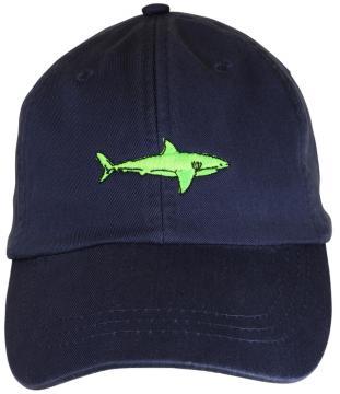 bc-baseball-hat-lime-shark-on-navy-blue