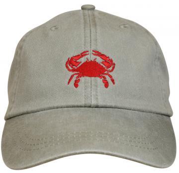 bc-baseball-hat-red-crab-on-stone