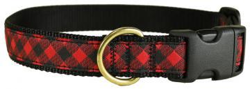 bc-ribbon-dog-collar-buffalo-plaid-1-inch-1