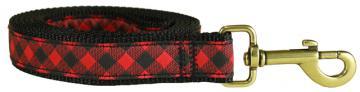 bc-ribbon-dog-leash-buffalo-plaid-1-inch