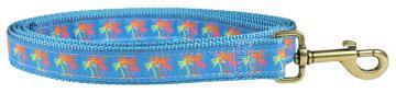 bc-ribbon-dog-leash-neon-palms-1-inch