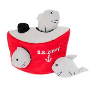 zp-shark-burrow-soft-dog-toy-1