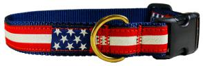 Retro U.S. Flag - Ribbon Dog Collar