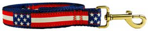 Retro U.S. Flag - Ribbon Dog Leash