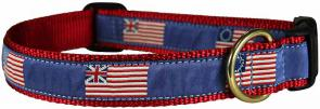 Historic American Flags - Ribbon Dog Collar