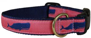 Moby Whale (Pink) - Ribbon Dog Collar