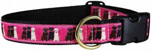Three Labs - Ribbon Dog Collar