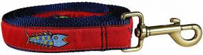 Hopkins Fish (Red) - Ribbon Dog Leash