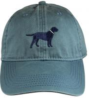 Baseball Hat - Dark Blue Lab on Blue Slate