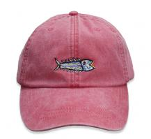 Baseball Hat - Hopkins Fish on Poppy