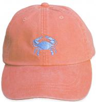 Baseball Hat - Light Blue Crab on Coral