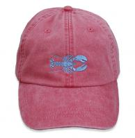 Baseball Hat - Light Blue Lobster on Poppy