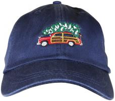 Baseball Hat - Woodie and Tree on Navy Blue