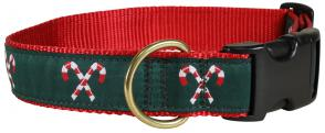 Candy Canes - 1.25-inch Ribbon Dog Collar