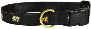 bc-ribbon-dog-collar-comic-book-commands-1-inch-1