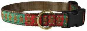 Ginger Bread Man - 1-inch Ribbon Dog Collar