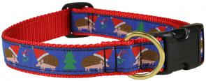 Holiday Hedgehog - 1-inch Ribbon Dog Collar